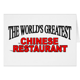 The World's Greatest Chinese Restaurant Card