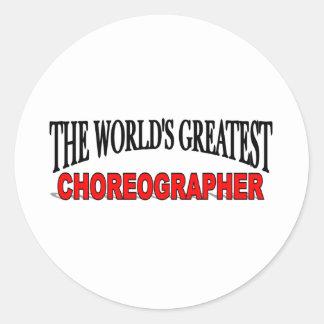 The World's Greatest Choreographer Classic Round Sticker