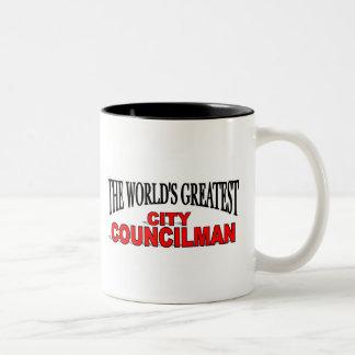 The World's Greatest City Councilman Two-Tone Coffee Mug