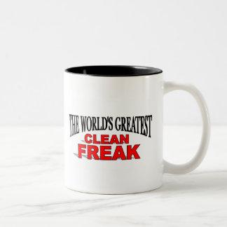 The World's Greatest Clean Freak Two-Tone Coffee Mug