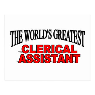 The World's Greatest Clerical Assistant Post Card