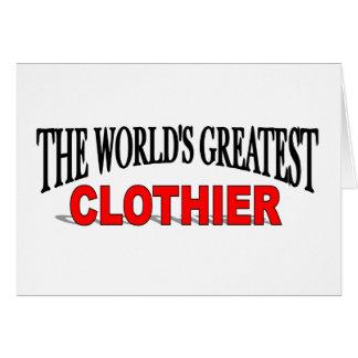 The World's Greatest Clothier Card