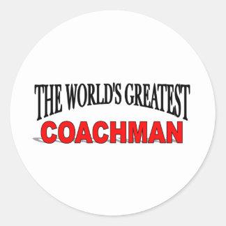 The World's Greatest Coachman Classic Round Sticker