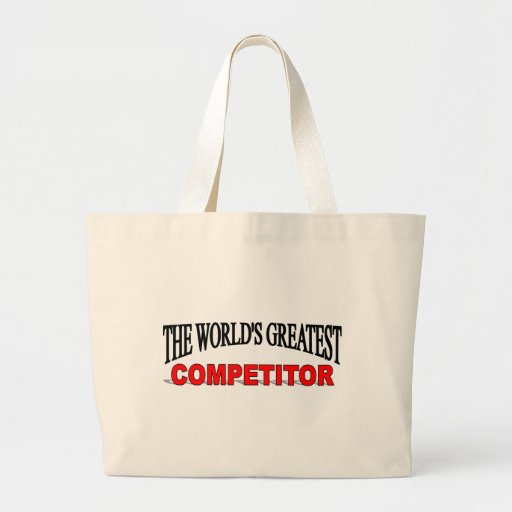 The World's Greatest Competitor Jumbo Tote Bag