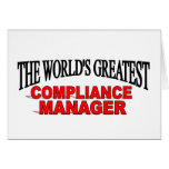 The World's Greatest Compliance Manager Card