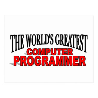 The World's Greatest Computer Programmer Postcard