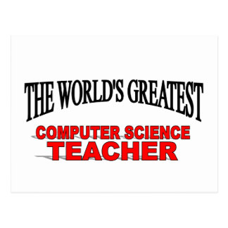 The World's Greatest Computer Science Teacher Postcard