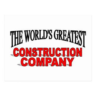 The World's Greatest Construction Company Postcard