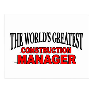 The World's Greatest Construction Manager Postcard