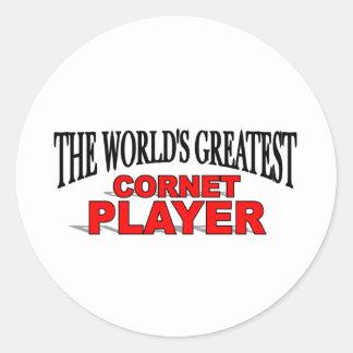 The World's Greatest Cornet Player Classic Round Sticker
