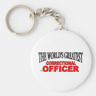 The World's Greatest Correctional Officer Keychain
