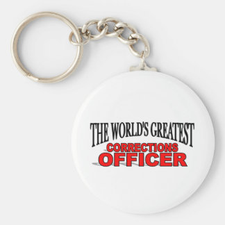 The World's Greatest Corrections Officer Basic Round Button Keychain