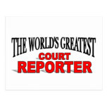 The World's Greatest Court Reporter Post Card