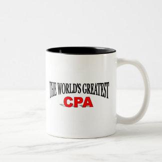 The World's Greatest CPA Two-Tone Coffee Mug