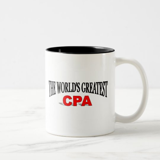 The World's Greatest CPA Two-Tone Coffee Mug