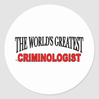 The World's Greatest Criminologist Classic Round Sticker