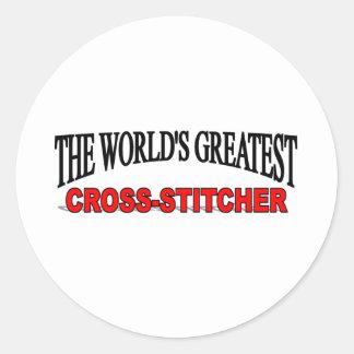The World's Greatest Cross-Stitcher Classic Round Sticker