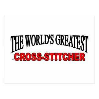 The World's Greatest Cross-Stitcher Postcard