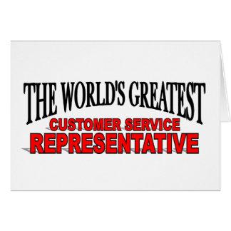 The World's Greatest Customer Service Representati Card
