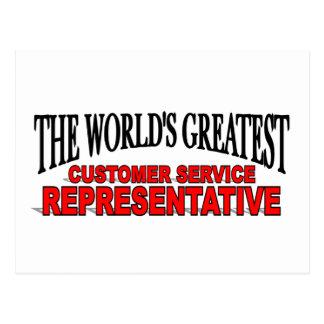 The World's Greatest Customer Service Representati Postcard