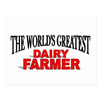 The World's Greatest Dairy Farmer Postcard