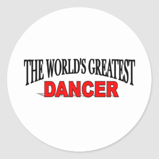 The World's Greatest Dancer Classic Round Sticker
