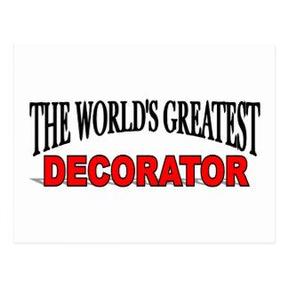 The World's Greatest Decorator Postcard