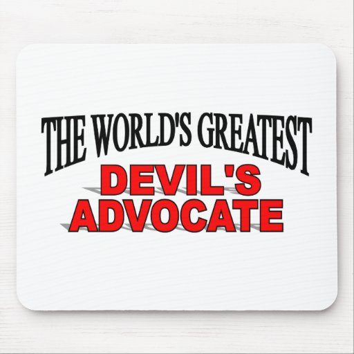 The World's Greatest Devil's Advocate Mouse Mats
