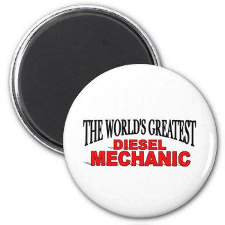 The World's Greatest Diesel Mechanic 2 Inch Round Magnet