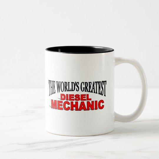 The World's Greatest Diesel Mechanic Two-Tone Coffee Mug