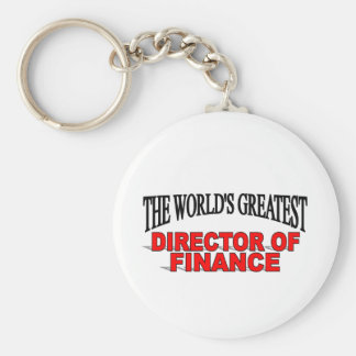 The World's Greatest Director of Finance Basic Round Button Keychain