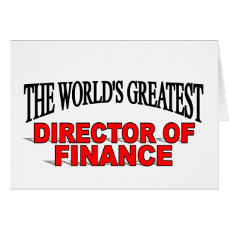 The World's Greatest Director of Finance Card