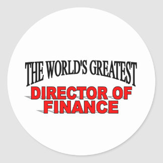 The World's Greatest Director of Finance Classic Round Sticker