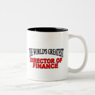 The World's Greatest Director of Finance Two-Tone Coffee Mug