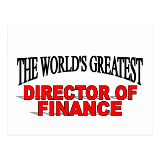 The World's Greatest Director of Finance Postcard