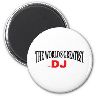 The World's Greatest DJ 2 Inch Round Magnet