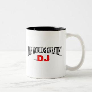 The World's Greatest DJ Two-Tone Coffee Mug