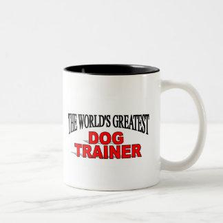 The World's Greatest Dog Trainer Two-Tone Coffee Mug