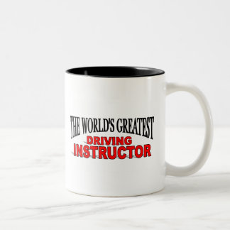 The World's Greatest Driving Instructor Two-Tone Coffee Mug