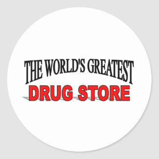 The World's Greatest Drug Store Classic Round Sticker