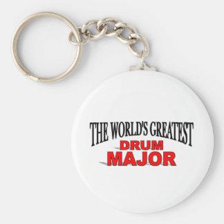 The World's Greatest Drum Major Basic Round Button Keychain
