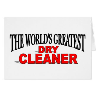 The World's Greatest Dry Cleaner Card