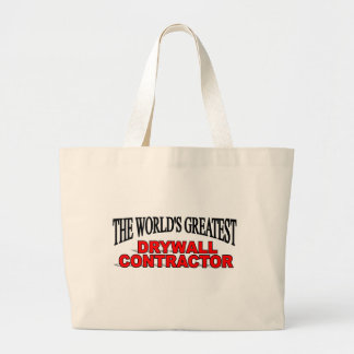 The World's Greatest Drywall Contractor Canvas Bag