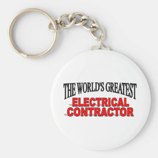 The World's Greatest Electrical Contractor Keychain