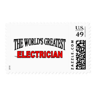 The World's Greatest Electrician Postage