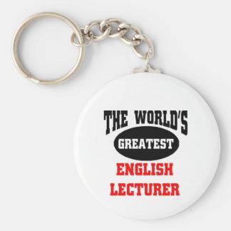 The World's greatest english lecturer Basic Round Button Keychain