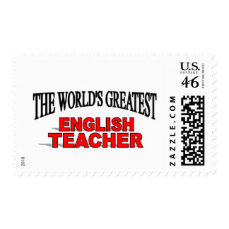 The World's Greatest English Teacher Postage Stamps
