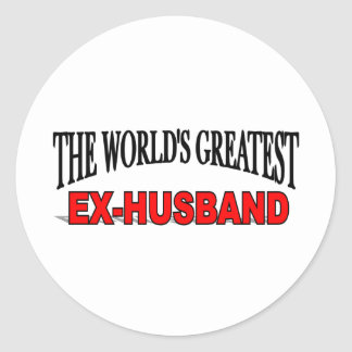 The World's Greatest Ex-Husband Classic Round Sticker