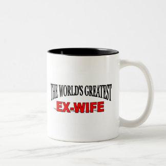 The World's Greatest Ex-Wife Two-Tone Coffee Mug