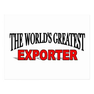 The World's Greatest Exporter Postcard